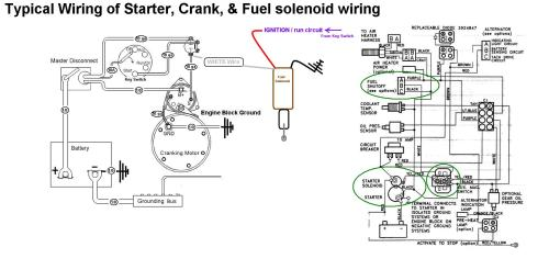 small resolution of starter crank u0026 fuel shutoff solenoid wiring seaboard marinestarter crank u0026 fuel
