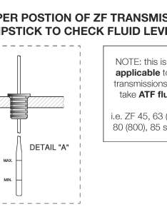 Zf marine transmission dipstick also checking  changing the oil on your rh sbmar