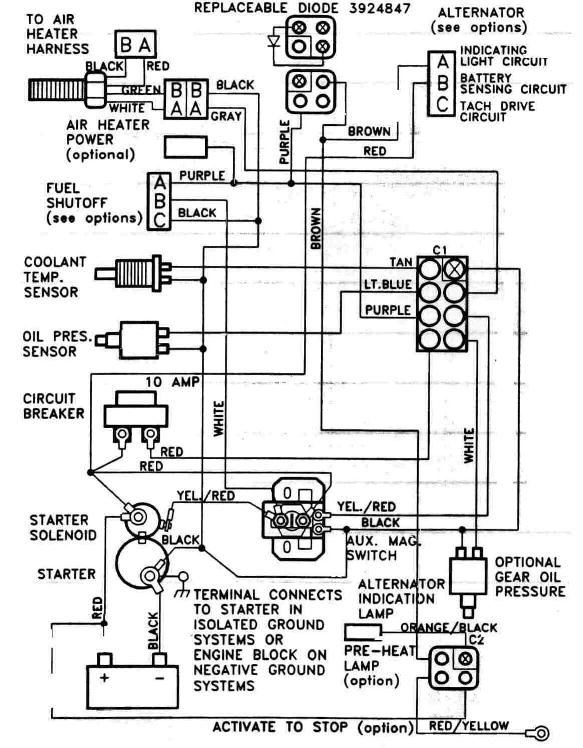 6BTA 5.9 & 6CTA 8.3 Mechanical Engine Wiring Diagrams