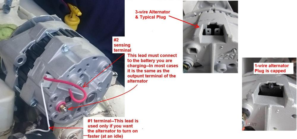 medium resolution of cummins marine delco style alternators identification seaboarddelco 3 wire alternator with 3 spade terminal plug 19si