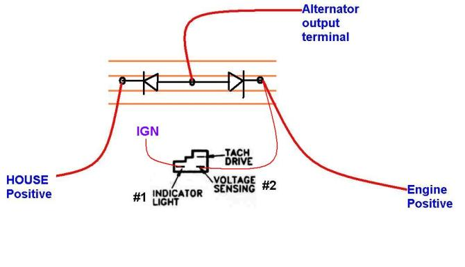 how to install a diode isolator with an alternator