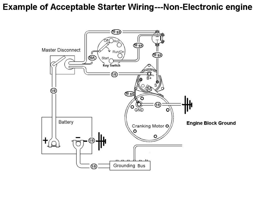 medium resolution of acceptable starter motor wiring with mag switchstarter u0026 mag switch wiring