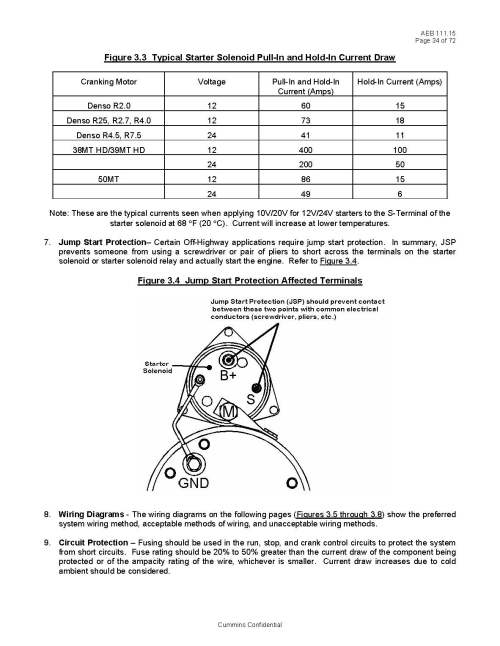 small resolution of basic fuel shutoff solenoid and starter wiring informationpages from cummins page 1