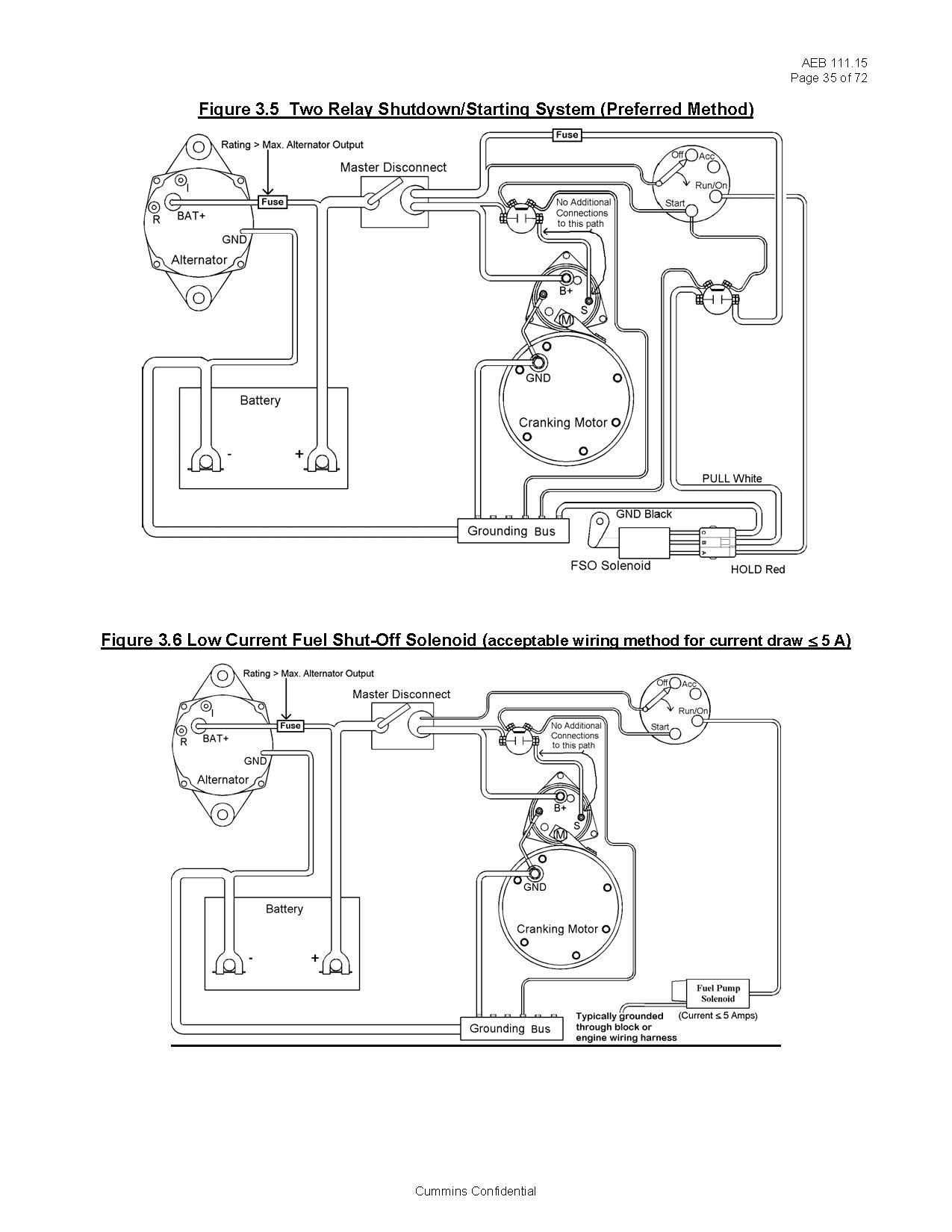 cummins wiring diagram 2002 f150 xlt radio basic fuel shutoff solenoid and starter information