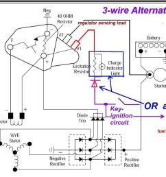 alternator wiring diagram w automotive wiring diagrams boat console wiring diagram 3 wire delco alternator with [ 1286 x 929 Pixel ]