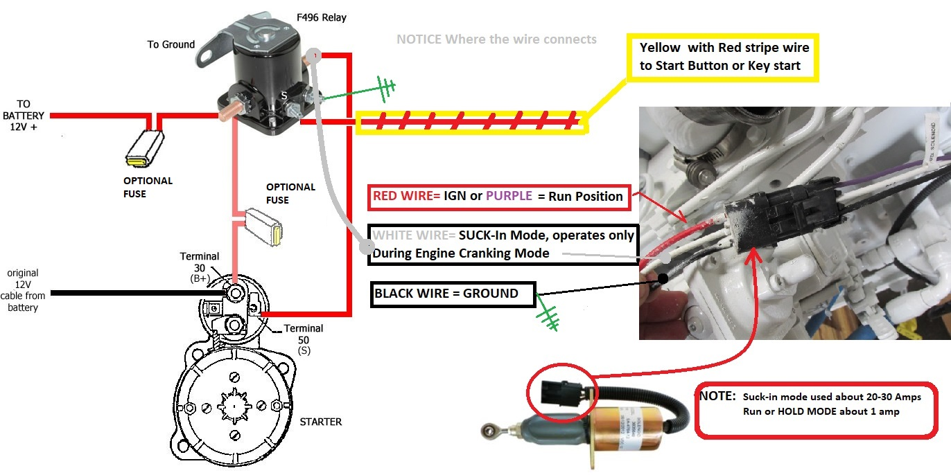 hight resolution of fuel shutoff solenoid wiring 101 seaboard marine wiring a solenoid on 92 golf cart 36 volt