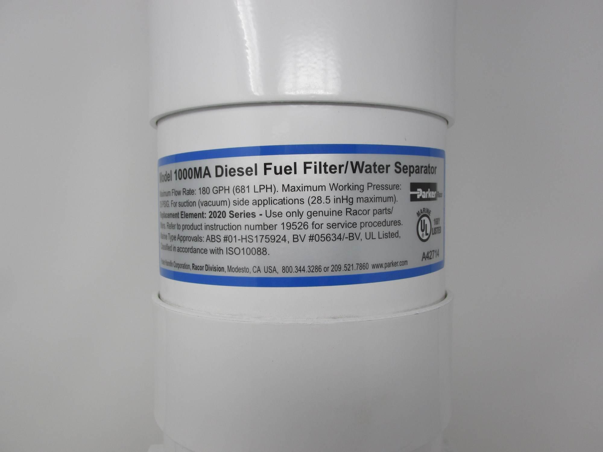 hight resolution of racor 1000ma marine turbine fuel filter water separator