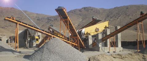 Silica coarse gravel crusher