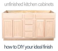 Unfinished Kitchen Cabinets - How-To DIY and Save Money ...