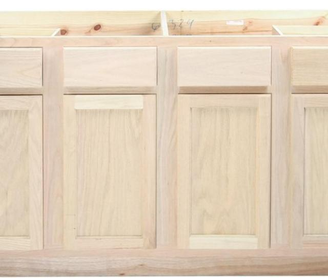 Our Unfinished Kitchen Cabinets