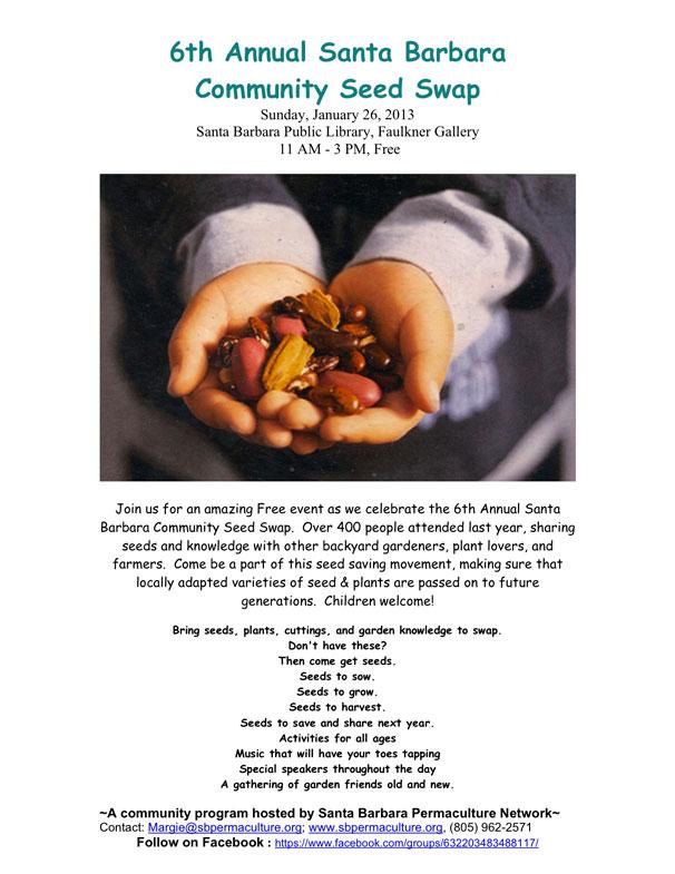 The 6th Annual Santa Barbara Community Seed Swap