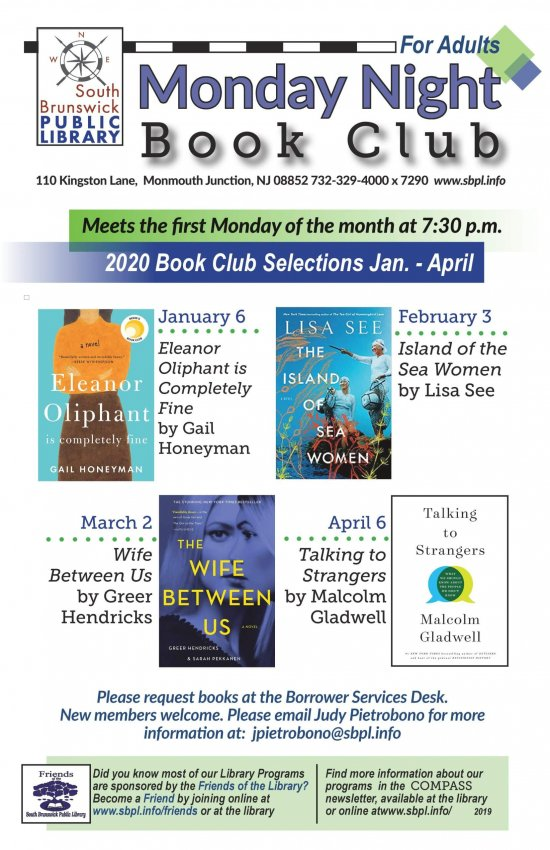 Adults - Monday Night Book Club Jan. - April