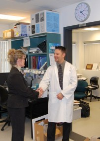 Conservative Candidate Shelly Glover visits lab