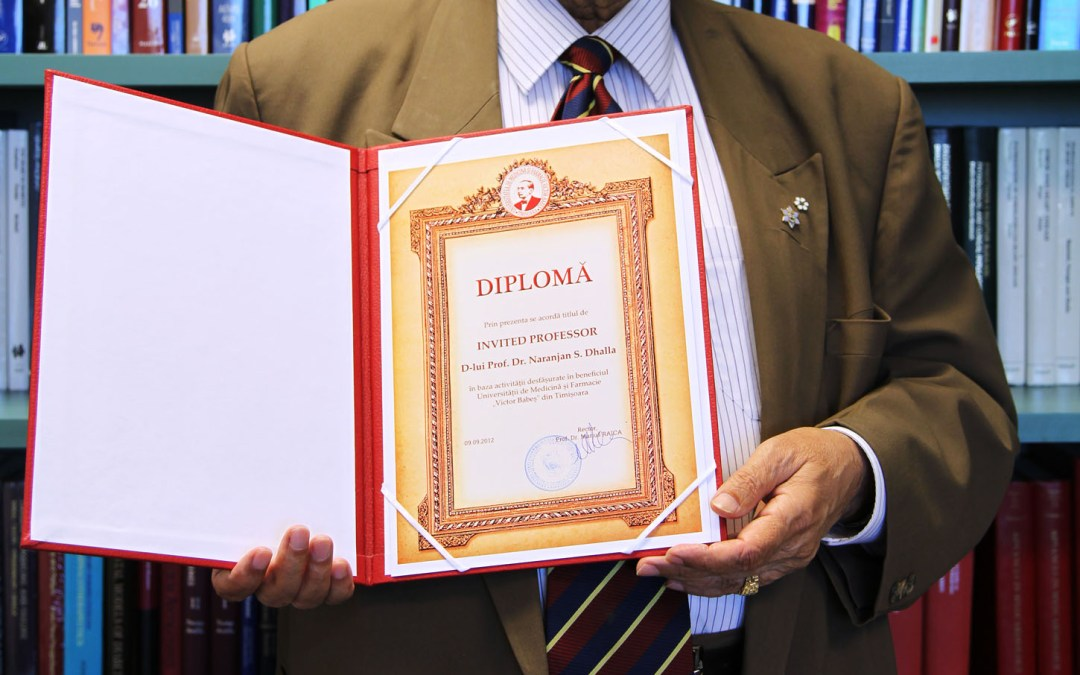 Dhalla honoured in Romania
