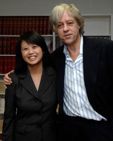 Dr. Hope Anderson with Sir Bob Geldof
