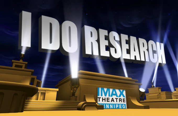 """I do Research"" hits IMAX screen!"