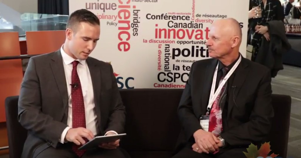Pierce interviewed at science policy conference