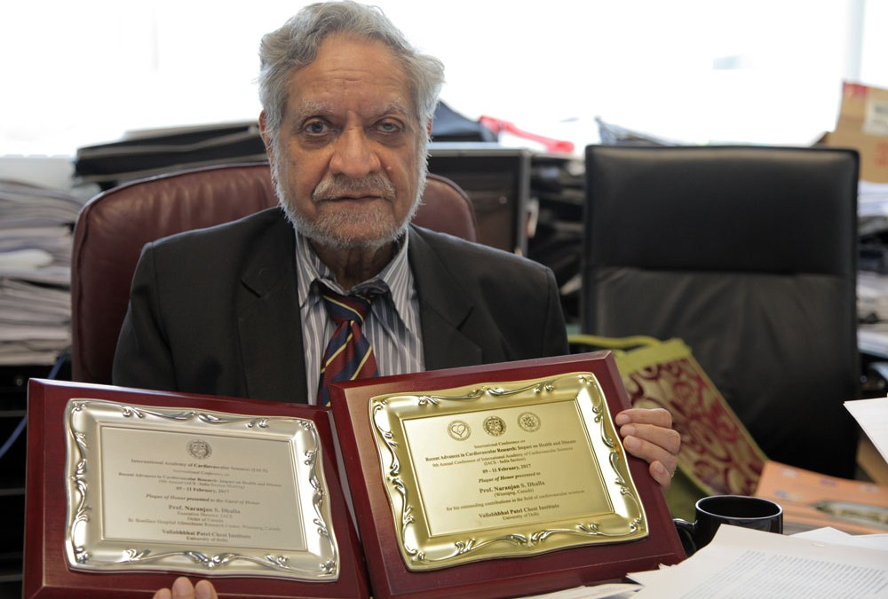 Dhalla receives awards