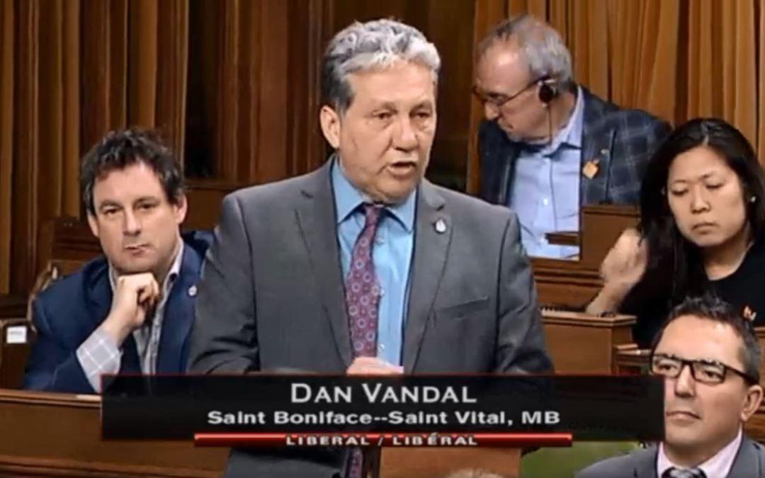 Dan Vandal speaks about St. Boniface Hospital Research