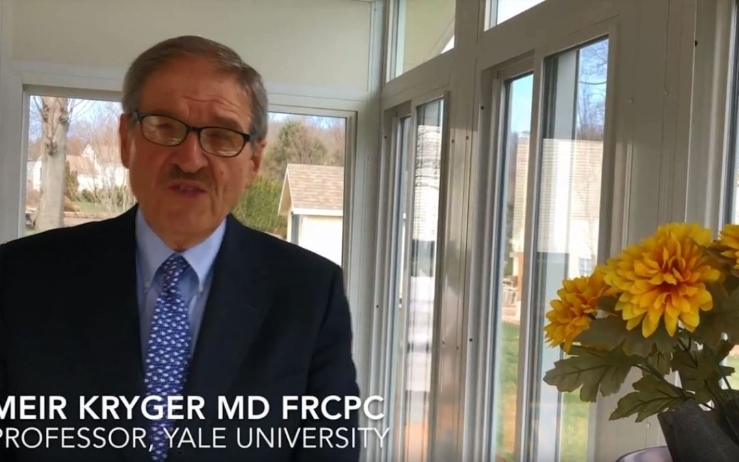 Thanks and Congratulations from Dr. Meir Kryger
