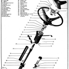 Steering Wheel Diagram House Lights Wiring South Africa Column For 74 Vw Beetle 47