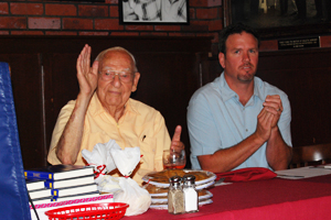 Round Table Founder Jerry Harwin was on hand for the year's first Press Luncheon at Harry's Cafe.