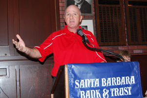 SBCC football coach Craig Moropoulos talks about his team's stunning upset of Canyons on Saturday night.