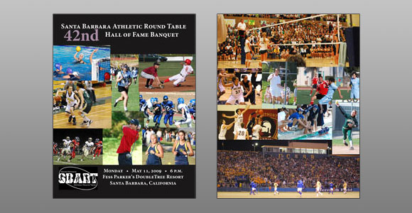 Santa Barbara Athletic Round Table 2009 Hall of Fame Banquet Program