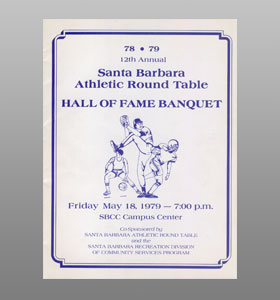 Santa Barbara Athletic Round Table 1979 Hall of Fame Banquet Cover