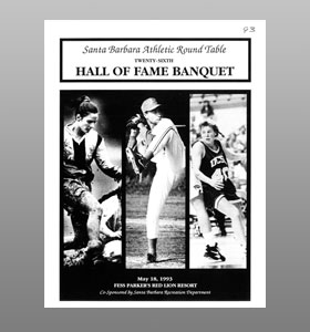 Santa Barbara Athletic Round Table 1993 Hall of Fame Banquet Cover