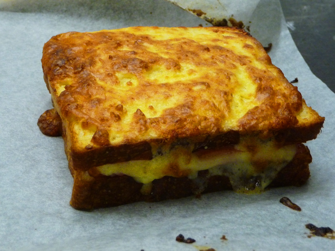 Cheese and ham toasted sandwich recipe  SBS Food