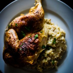 Small Eat In Kitchen Table Storage Cabinet Roasted Chicken With Cauliflower Mash Recipe : Sbs Food