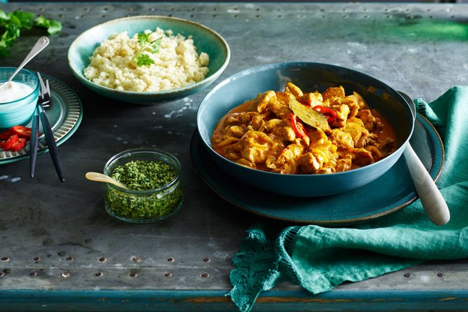 Indian chicken curry with cauliflower rice recipe : SBS Food