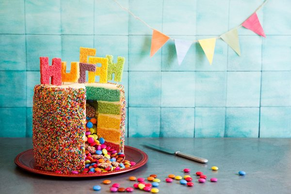 Rainbow Piata Birthday Cake Recipes Sbs Food