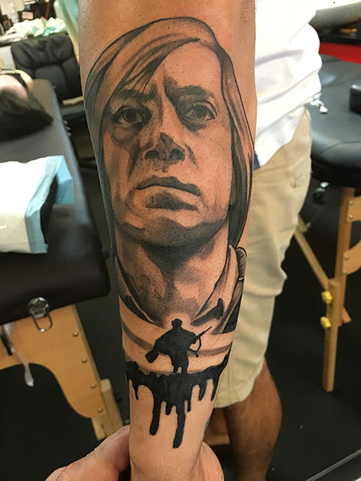 Why I have a tattoo of Javier Bardems Anton Chigurh from