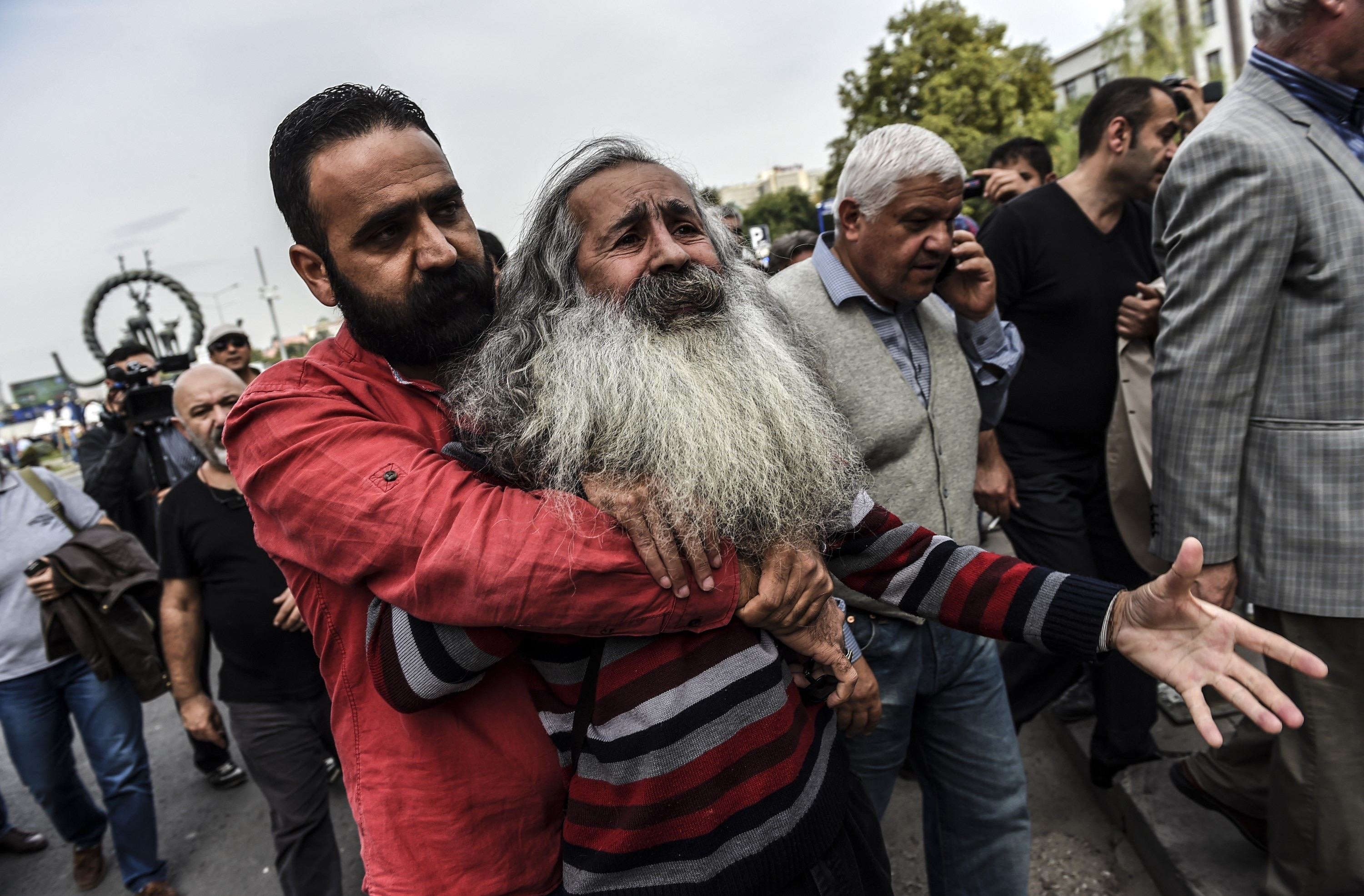 In pictures Turkish people protest mourn victims  SBS News