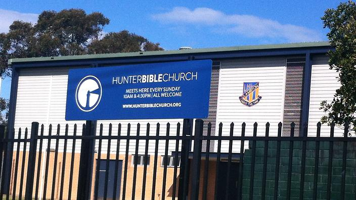 The Hunter Bible Church which operates from Lambton Public school in NSW.