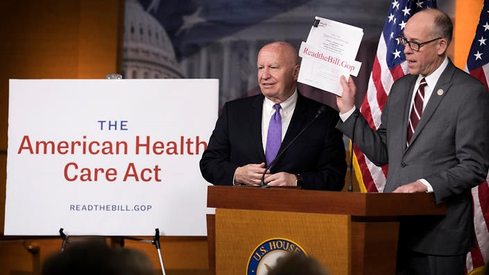 Image result for photos of republicans presenting AMERICAN HEALTHCARE ACT