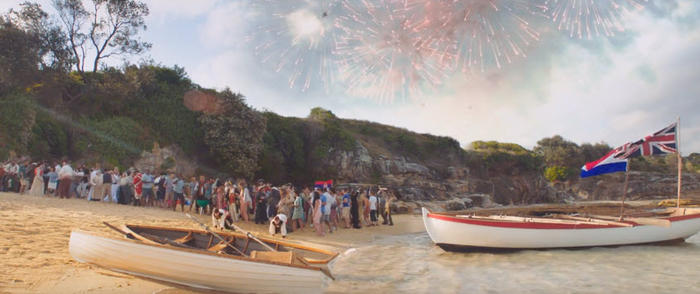2017 lamb ad features a beach party hosted by Indigenous Australians.