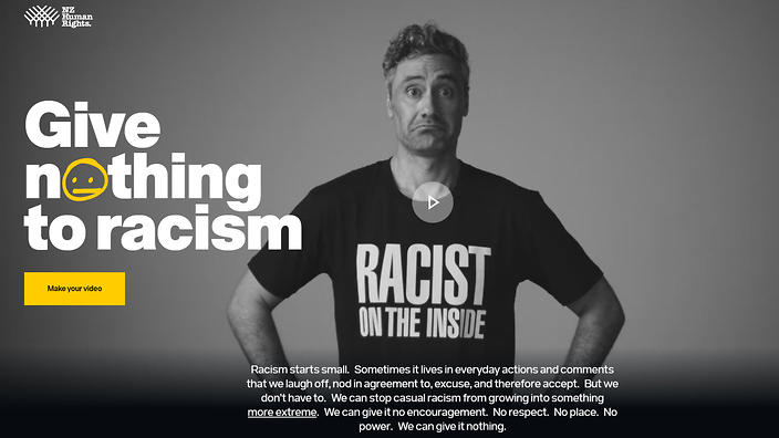 What do you give to racism  NITV