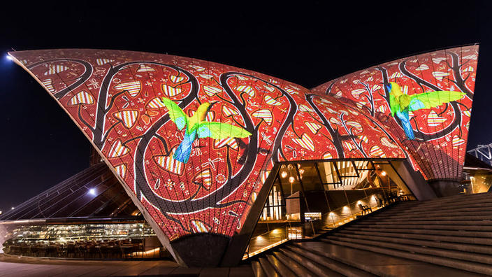 Badu Gili Sydney Opera House sails light up with