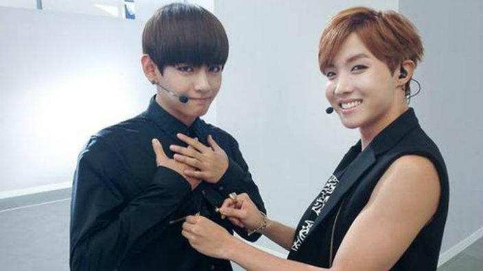 Cute Small Couple Wallpaper Hd Bts J Hope And V To Be Mcs For Inkigayo Sbs Popasia
