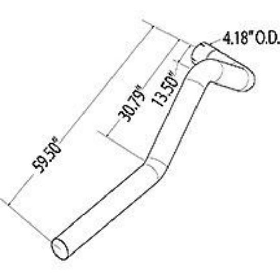 Blue Bird ISB10 Left Hand Tail Pipe Part#10011477