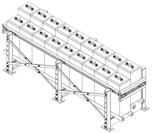 Seismic Battery Rack Drawings & Dimensions