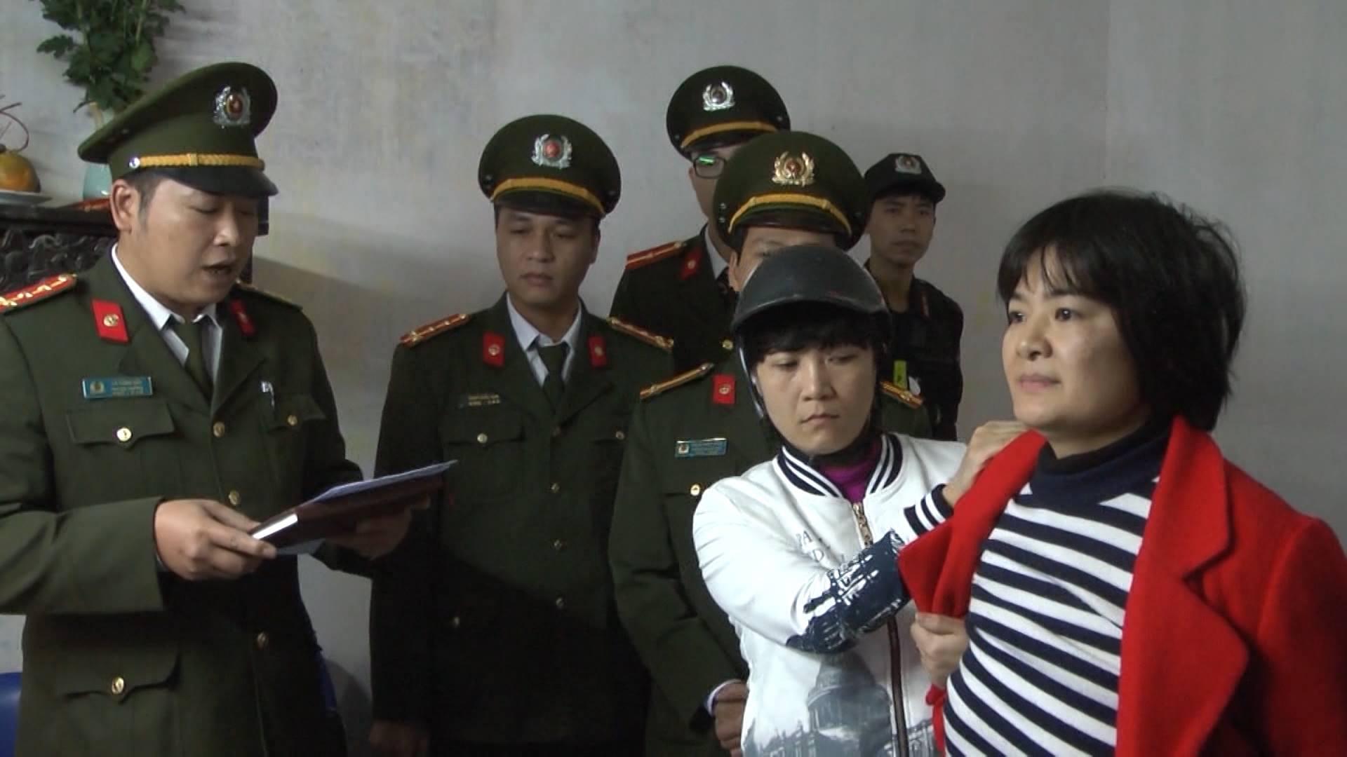 Nhà hoạt động Trần Thị Nga ở Hà Nam bị bắt ngày 21.01.2017. Ảnh: SBTN