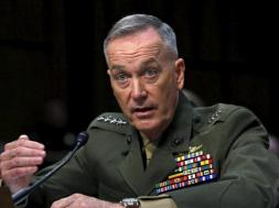 Marine Corps General Dunford testifies during the Senate Armed Services committee nomination hearing on Capitol Hill in Washington