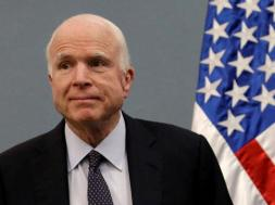 FILE PHOTO: U.S. Senator John McCain attends a news conference at the Benjamin Franklin Library in Mexico City