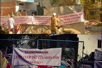 Người dân vườn rau Lộc Hưng phản đối chính quyền CSVN tự động cắm cọc phân lô đất cưỡng chế