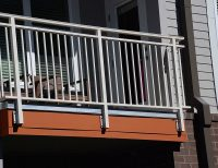 Aluminum Balcony Railing | Lofts at Seigle Point | SC Railing