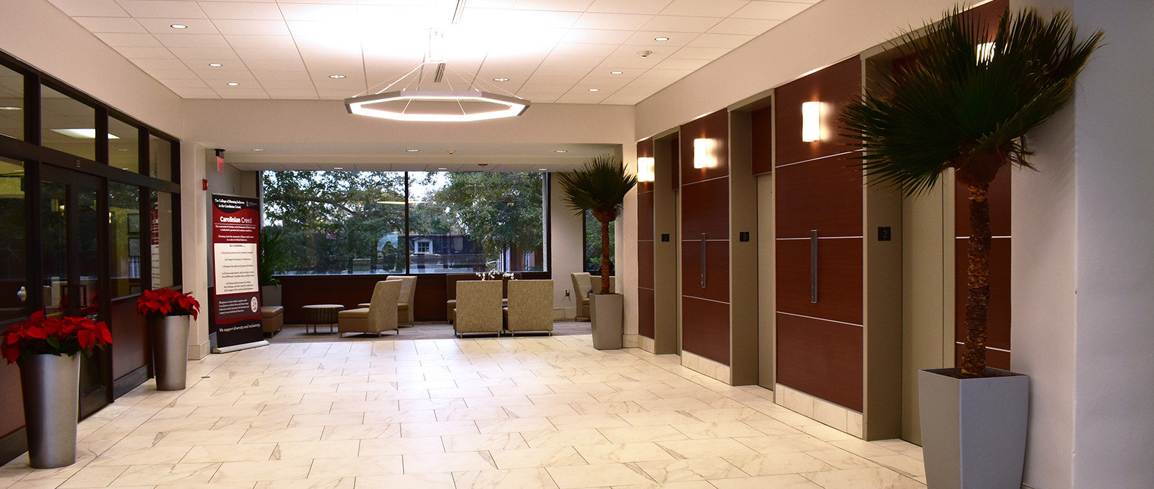 Lobby renovations modernize the College of Nursing